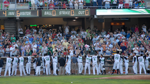 The team credits Dayton fans for the Dragons' record-breaking sellout run.